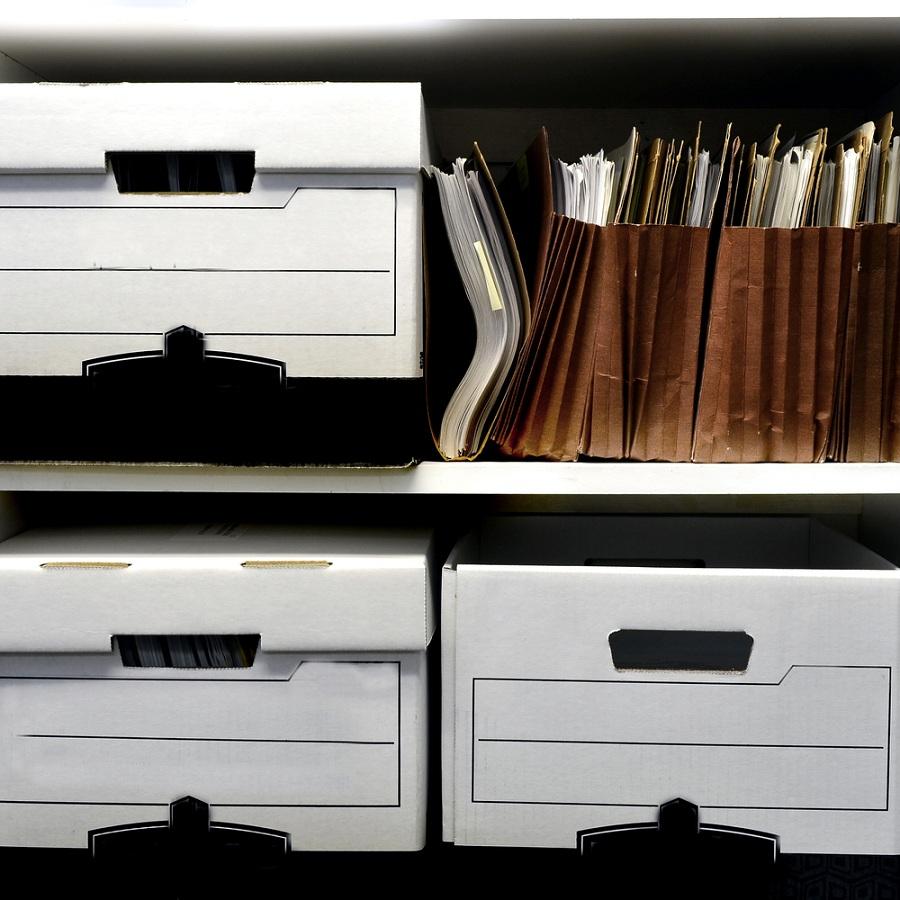 Tartson rendet dokumentumai között! - Irattári dobozok a munkahelyen